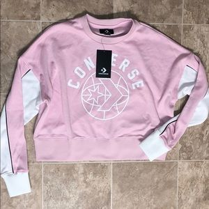 NWT converse cropped crew